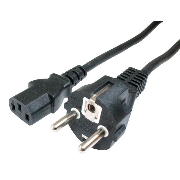 Dcu cable negro alimentación de equipos electrónicos conexión red tripolar  1.5m