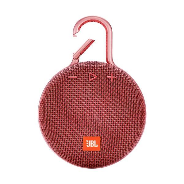 Jbl clip 3 rojo altavoz portátil 3w rms bluetooth mosquetón integrado impermeable ipx7