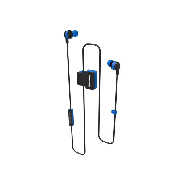 Pioneer se-cl5bt azul auriculares inalámbricos bluetooth diseño en clip con micrófono ipx4