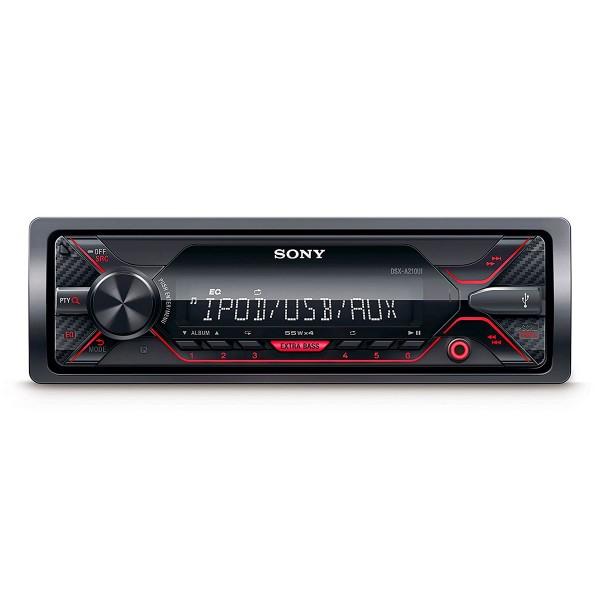 Sony dsxa210ui receptor multimedia con usb para coche iluminación rojo