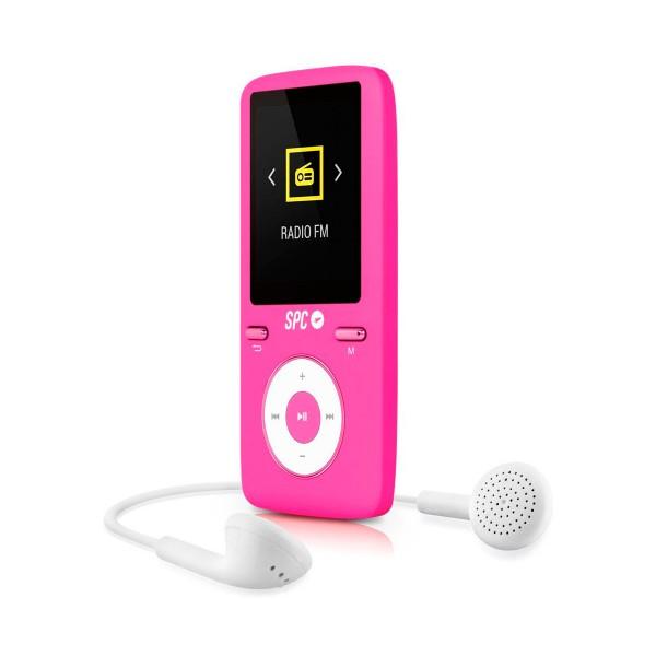 Spc pure sound colour 2 rosa 8488p reproductor mp3 8gb con pantalla de 1.8''