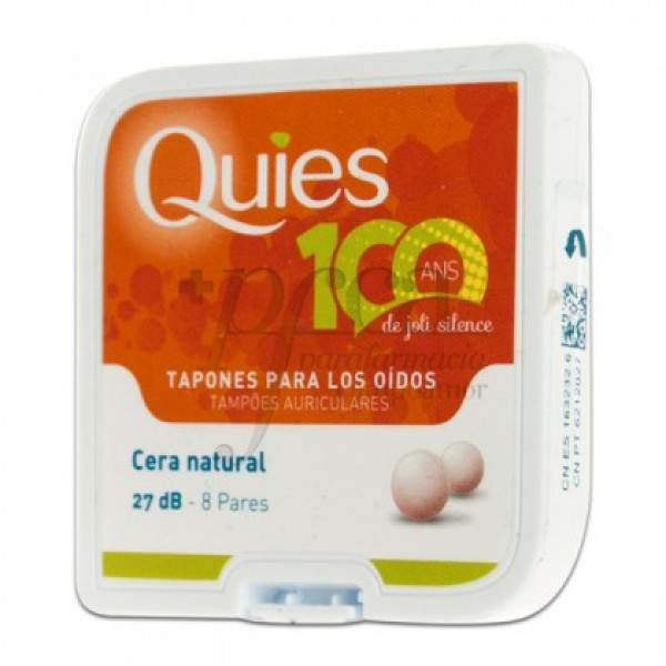 QUIES TAPONES PARA OIDOS CERA NATURAL 8 PARES