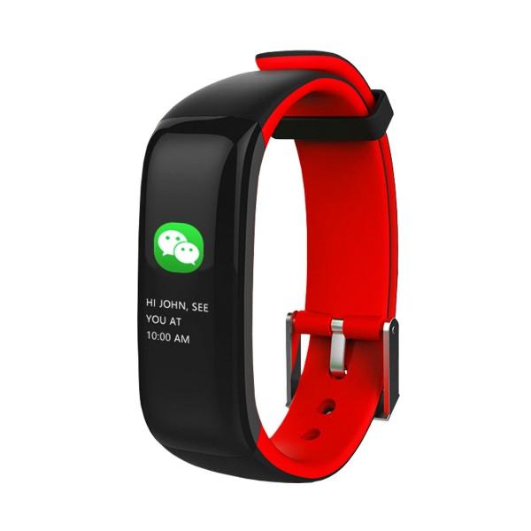 Brigmton bsport-15 rojo pulsera de actividad con pantalla oled color táctil ip67 bluetooth