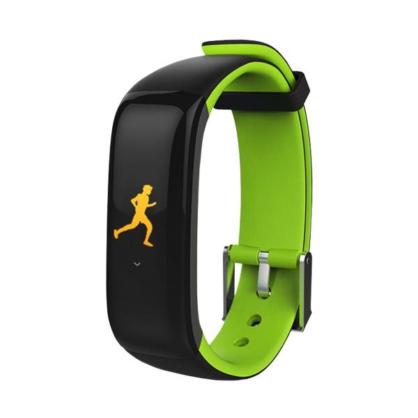 Brigmton bsport-15 verde pulsera de actividad con pantalla oled color táctil ip67 bluetooth