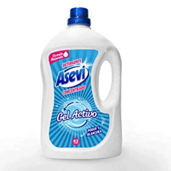 Asevi detergente  Gel activo, 42 lavados