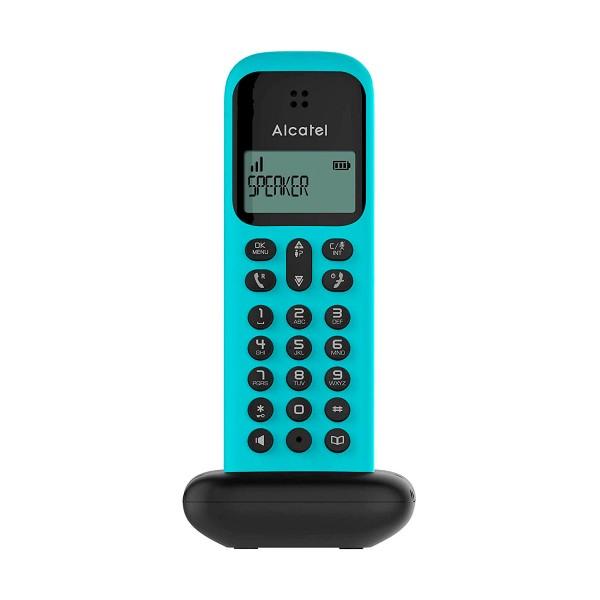 ALCATEL D285 turquesa teléfono fijo inalámbrico sencillo y elegante