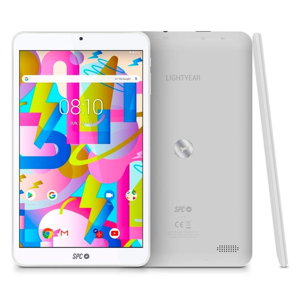 Spc lightyear blanco tablet wifi 8'' ips hd quadcore 32gb 2gb ram cam 2mp selfies vga