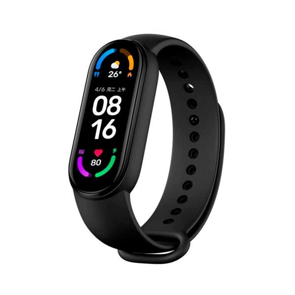 """Xiaomi mi smart band 6 negro pulsera de monitorización inteligente con pantalla amoled táctil 1.56"""" a color bluetooth frecuencia cardíaca y sueño"""