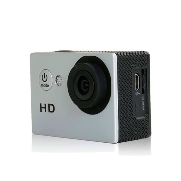 Shark tiger1 silver camera video digital deportiva sumergible 1080p 5mp pantalla 2 pulgadas